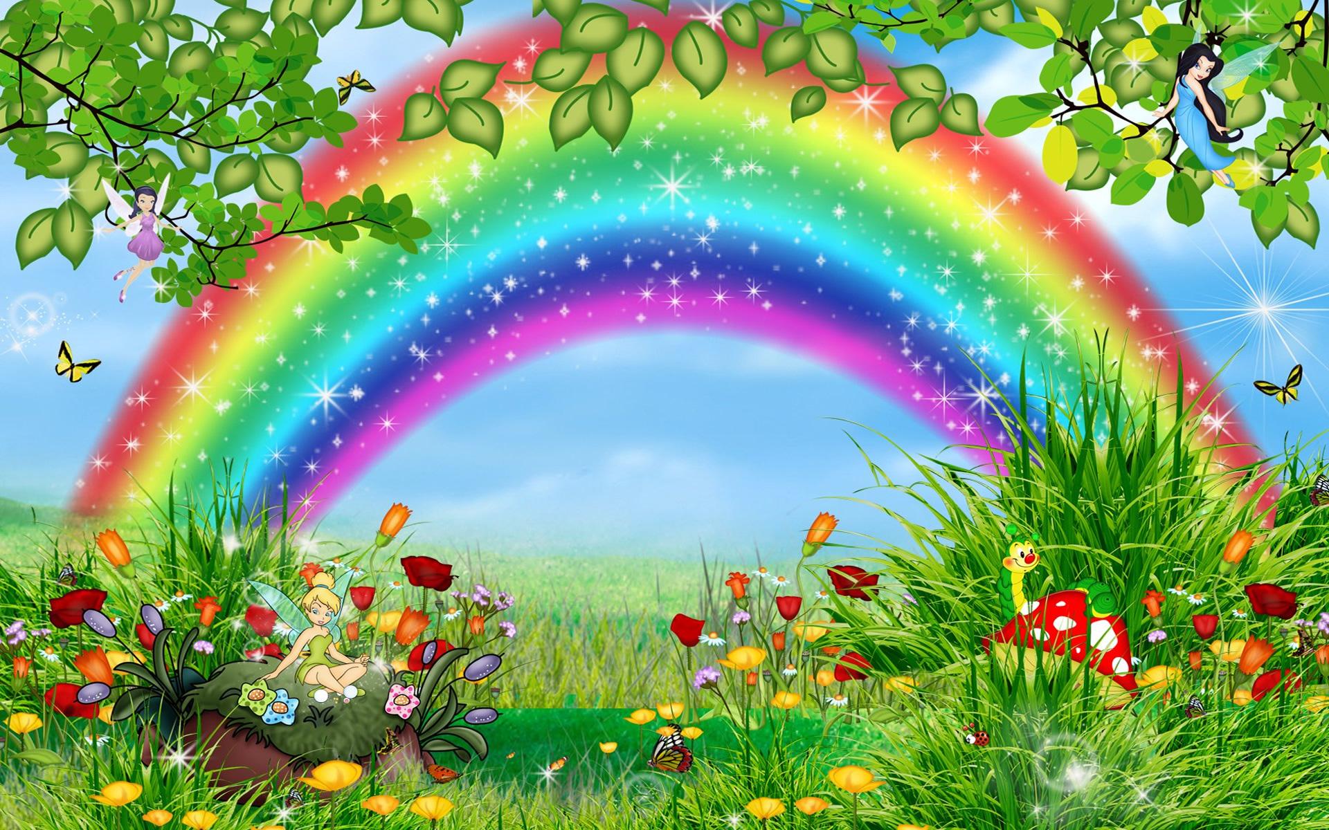 Wallpaper download cartoon - Background Cartoon Rainbow Pictures 10359 Wallpaper Wallpaper Hd