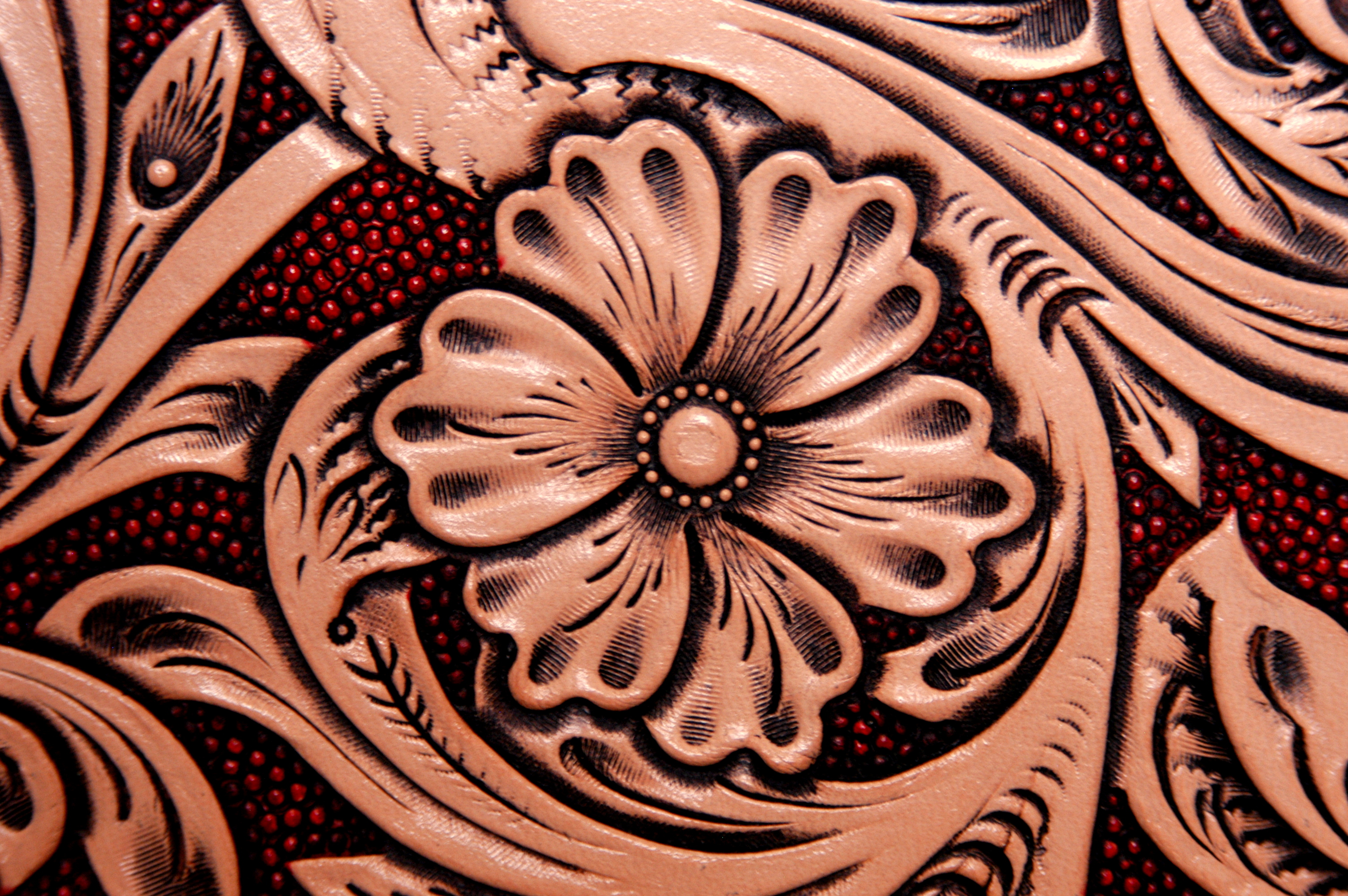 Tooled Leather Wallpaper Wallpapersafari