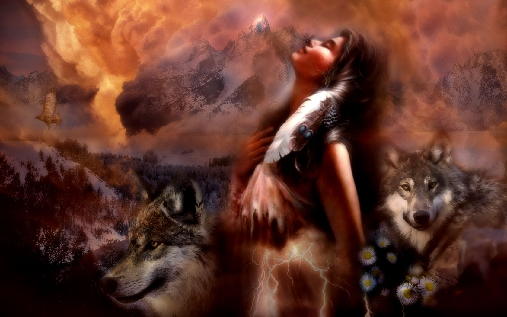 Native American Indian Women 1680x1050