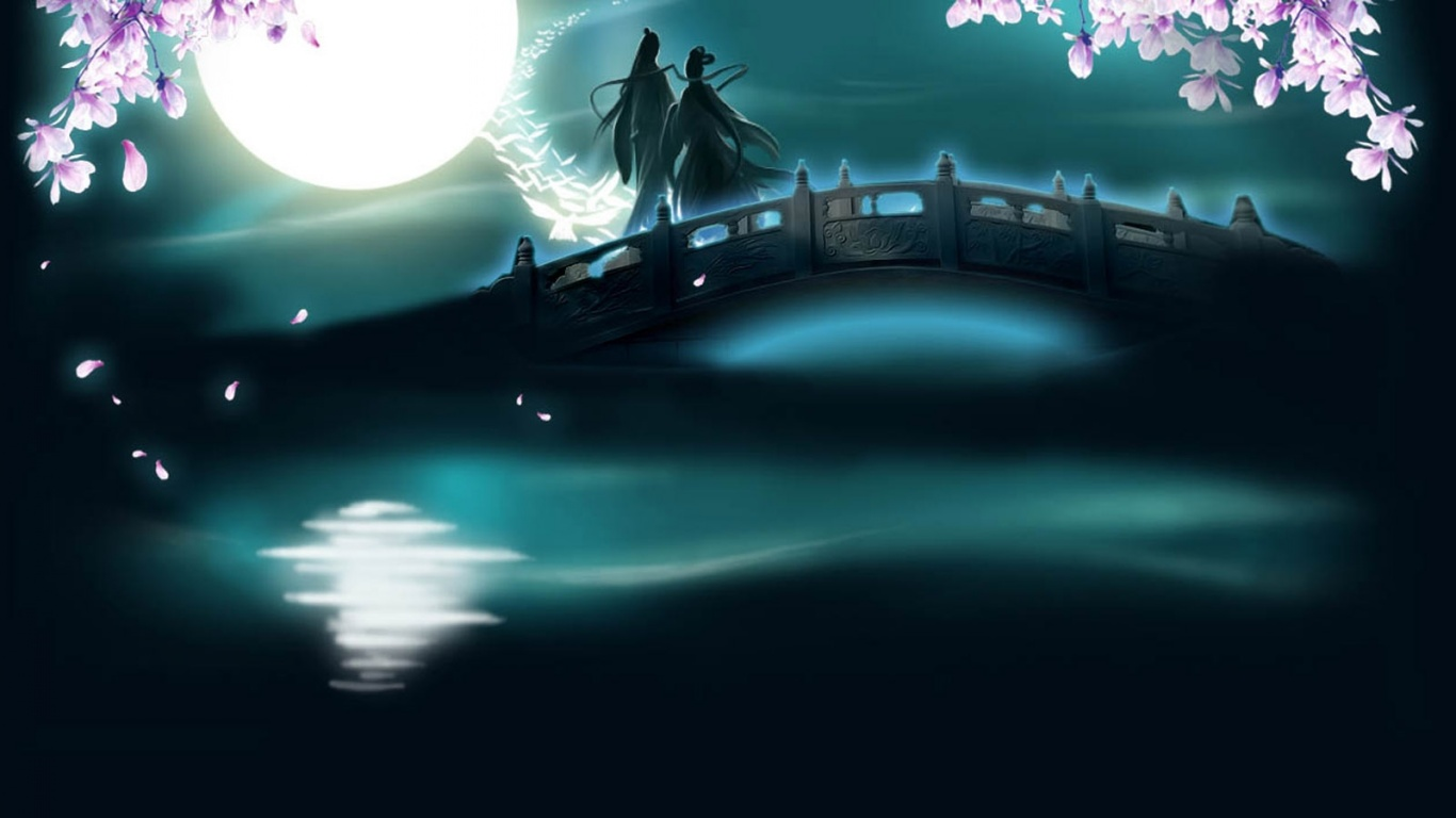 1366x768 Chinese Valentine desktop PC and Mac wallpaper 1366x768
