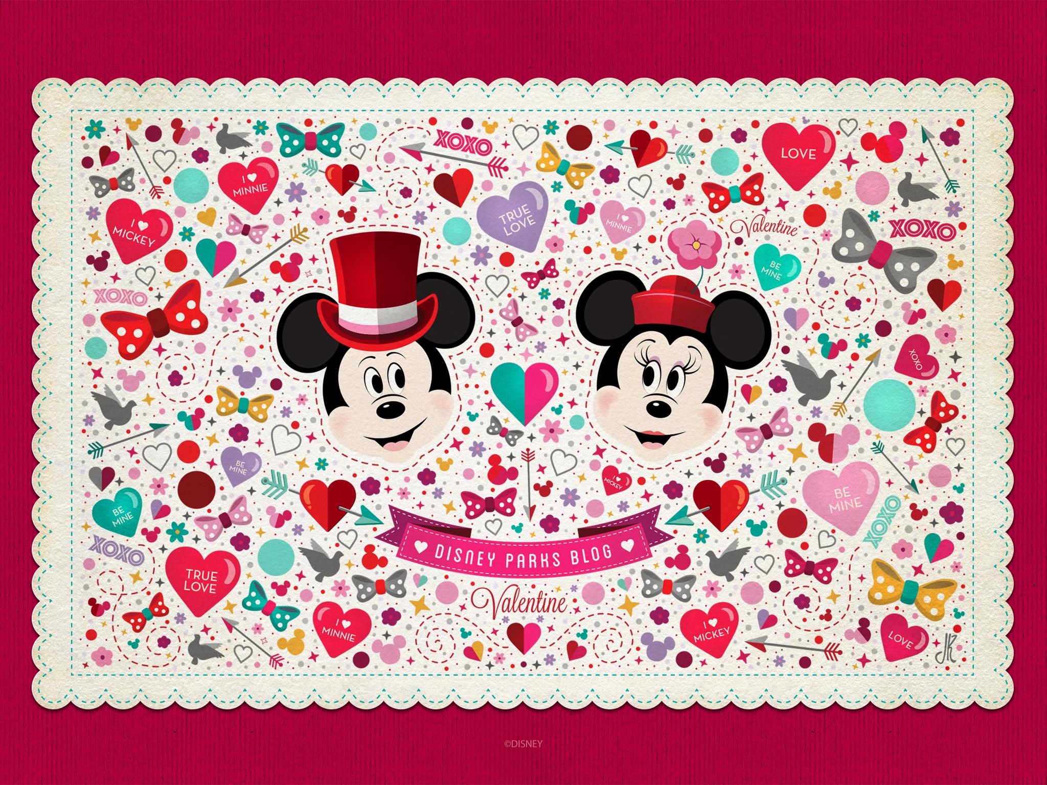 Valentines Day Wallpaper Desktop Disney Parks Blog 2048x1536