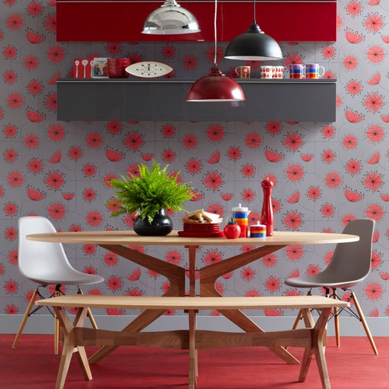 Dining Room Wall Decor Dining room wallpaper ideas 2 546x546