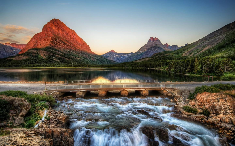 Magical Mountain Lake Windows 8 Wallpaper wallpapers x 1440x900