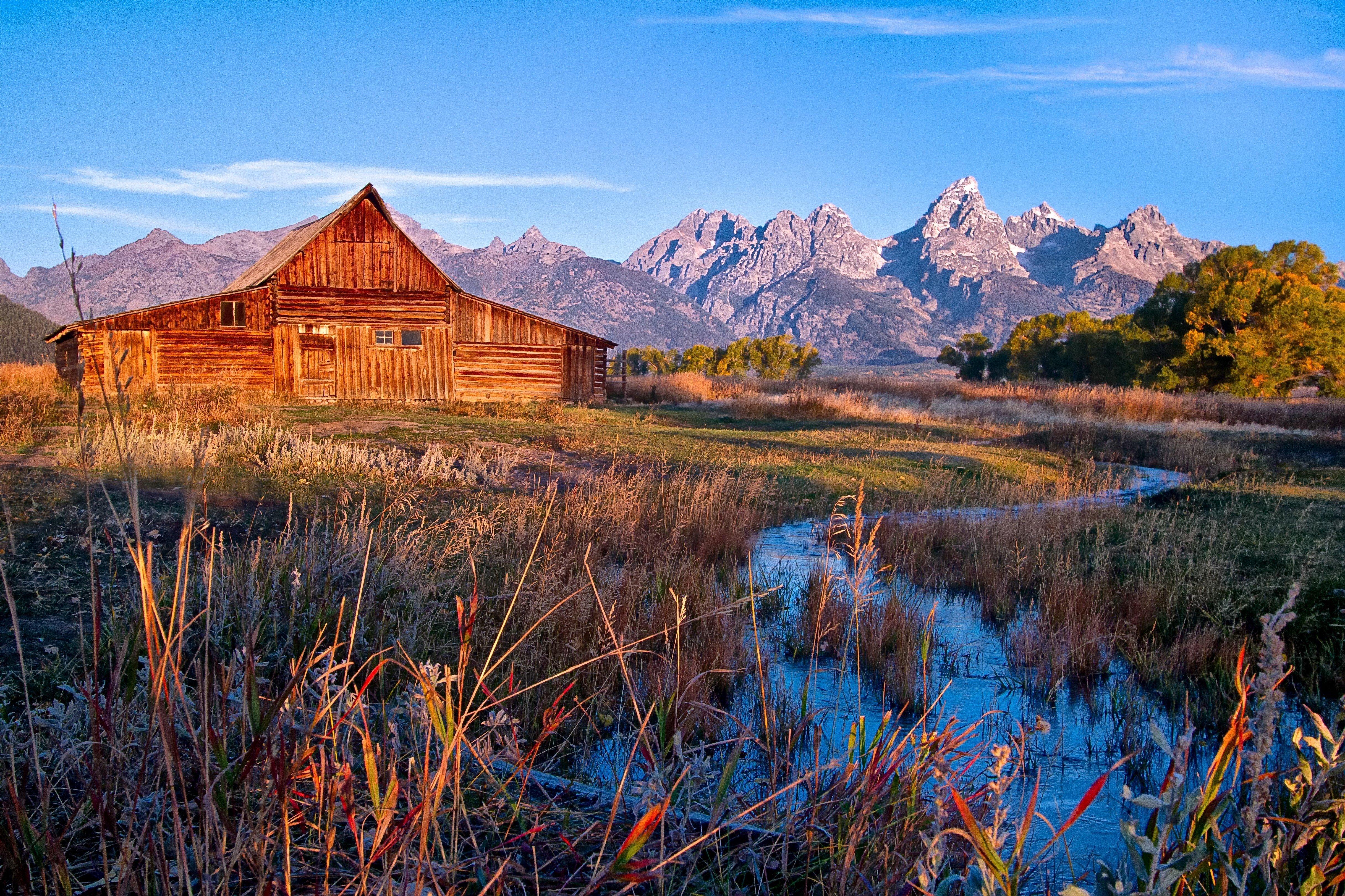 Mormon Row Grand Teton National Park Jackson Hole Wyoming USA barm 4866x3243