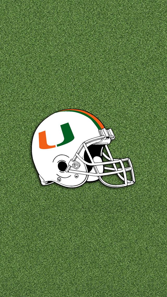 Miami Hurricanes Helmet 640x1136