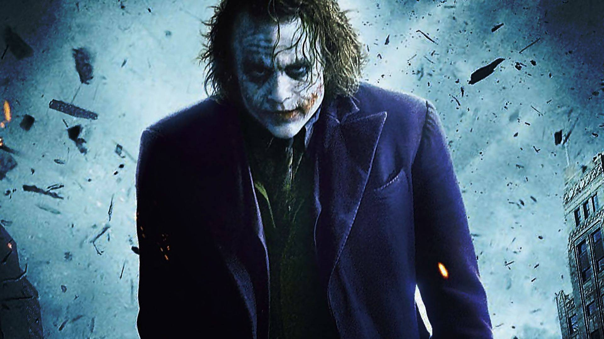 The Joker The Dark Knight   Heath Ledger   Batman Wallpaper 1920x1080