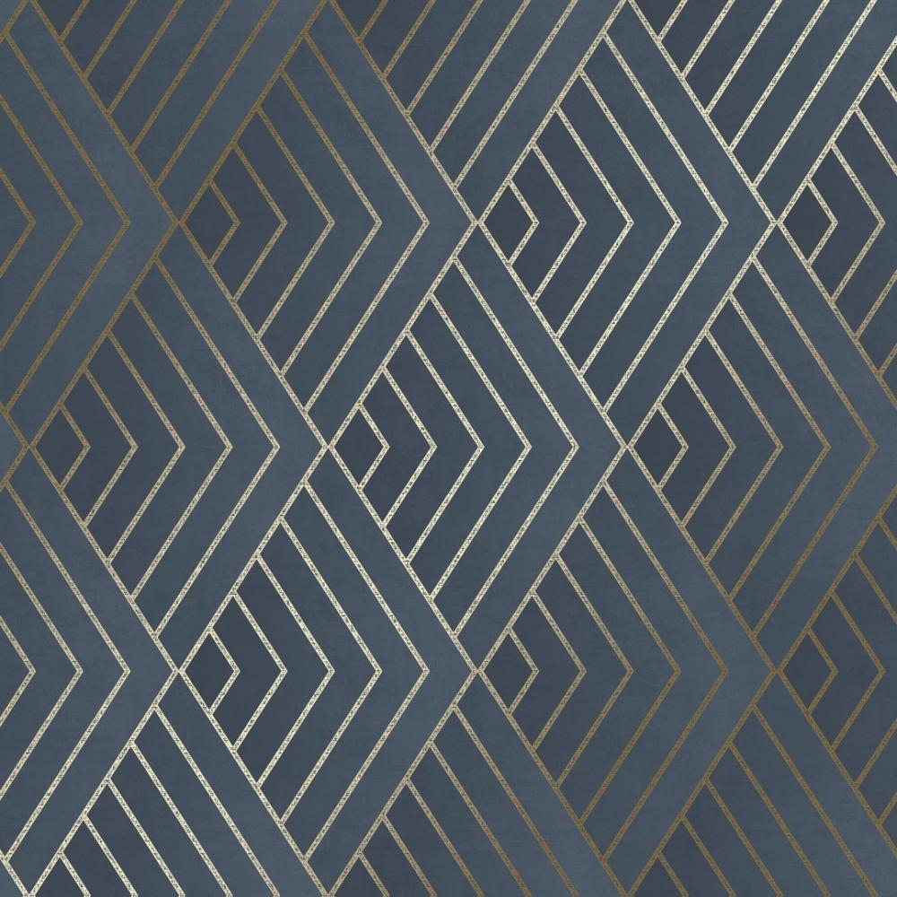 I Love Wallpaper Chevron Geometric Wallpaper Navy Gold 1000x1000