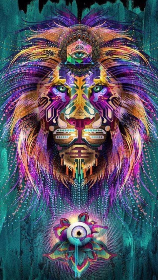 50 Trippy Lion Wallpaper On Wallpapersafari