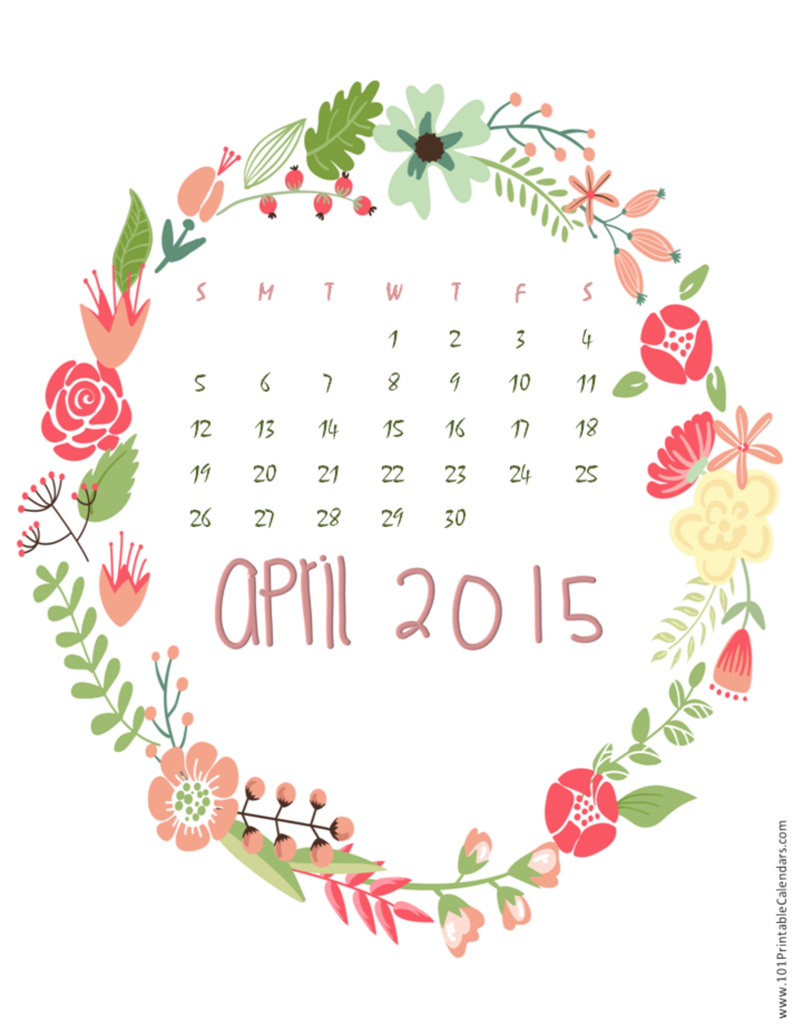 April Calendar 2015 Wallpaper 6 2550x3300
