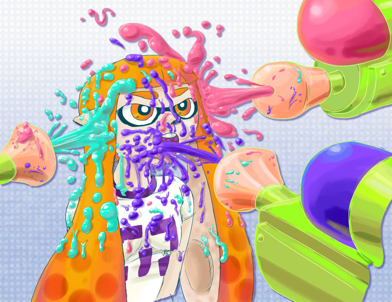 48 Inkling Splatoon Squid Wallpaper On Wallpapersafari