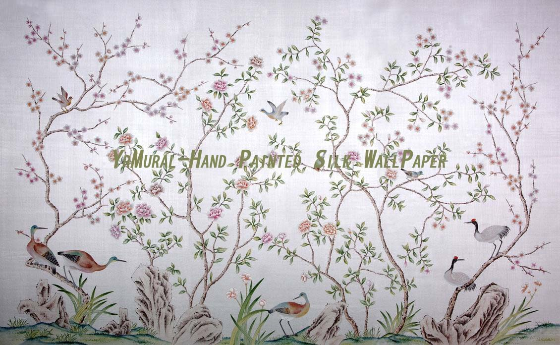 wallpaper style suppliers on Hand Painted Wallpaper Silk Wallpaper 1130x696