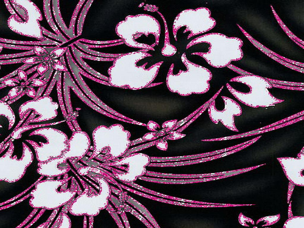 [47+] Pink and Black Flower Wallpaper on WallpaperSafari