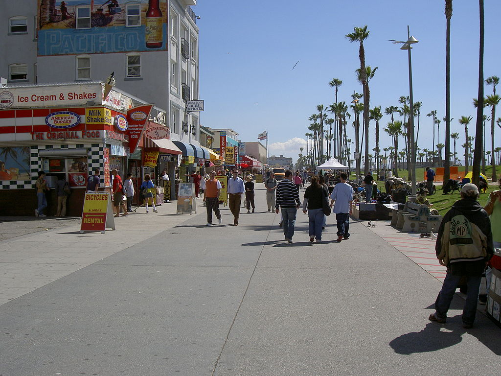 The Venice Beach Boardwalk Venice Beach 1024x768