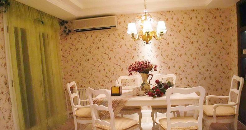 White Green Dining Room Floral Wallpaperjpeg Foto 13 790x420