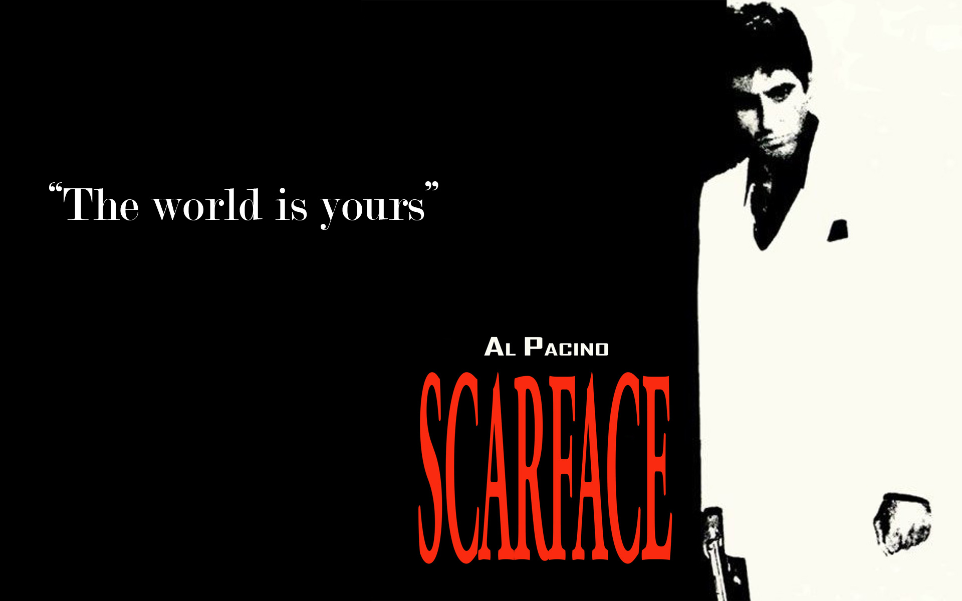 Scarface hd wallpapers wallpapersafari - The world is yours wallpaper ...