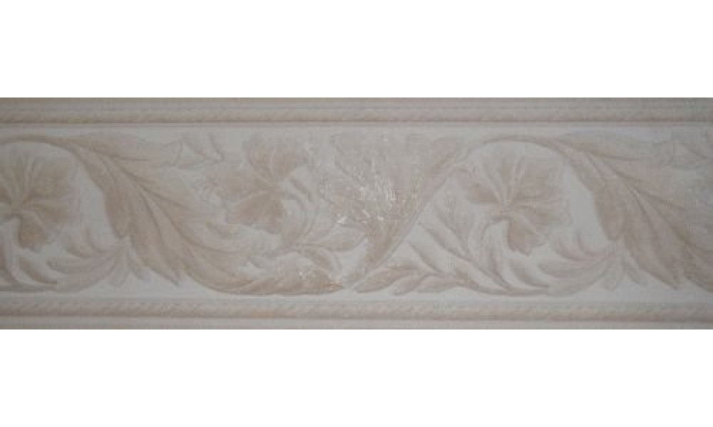 Home Taupe Leaf Molding Wallpaper Border 1000x600