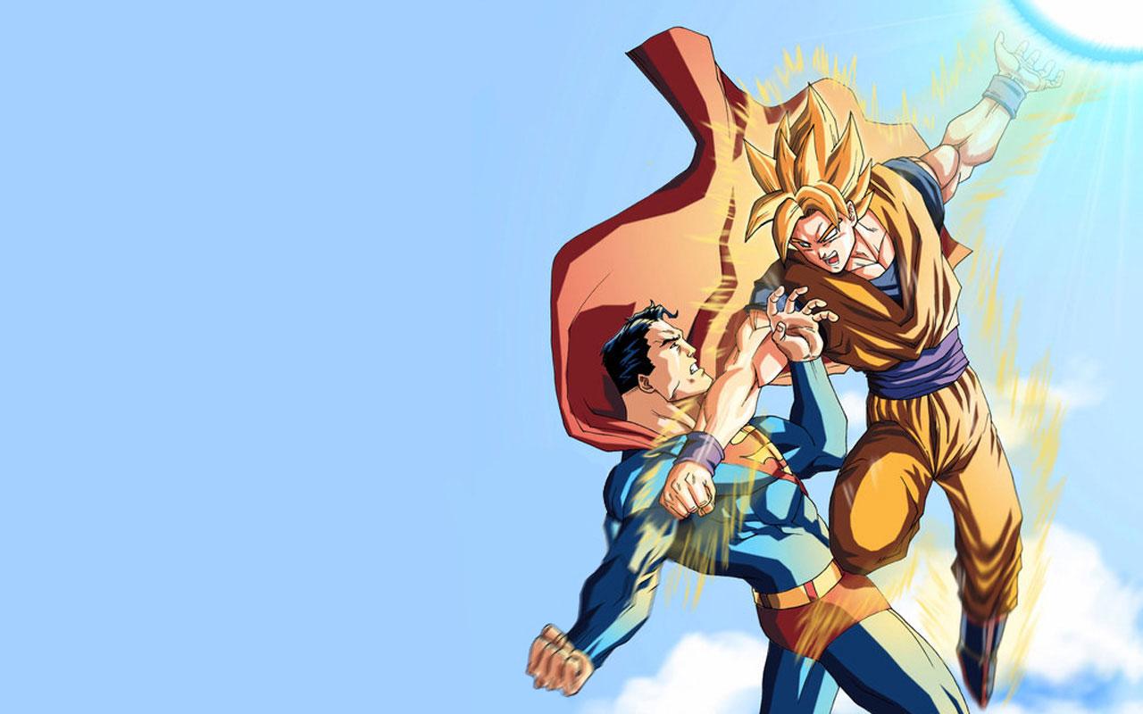 Son Goku Superman Dragonball Wallpaper 1280x800 Full HD Wallpapers 1280x800