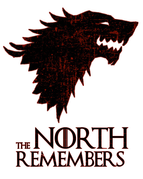 The North Remembers Game of Thrones 2 Canvas Print by Greenn 482x600
