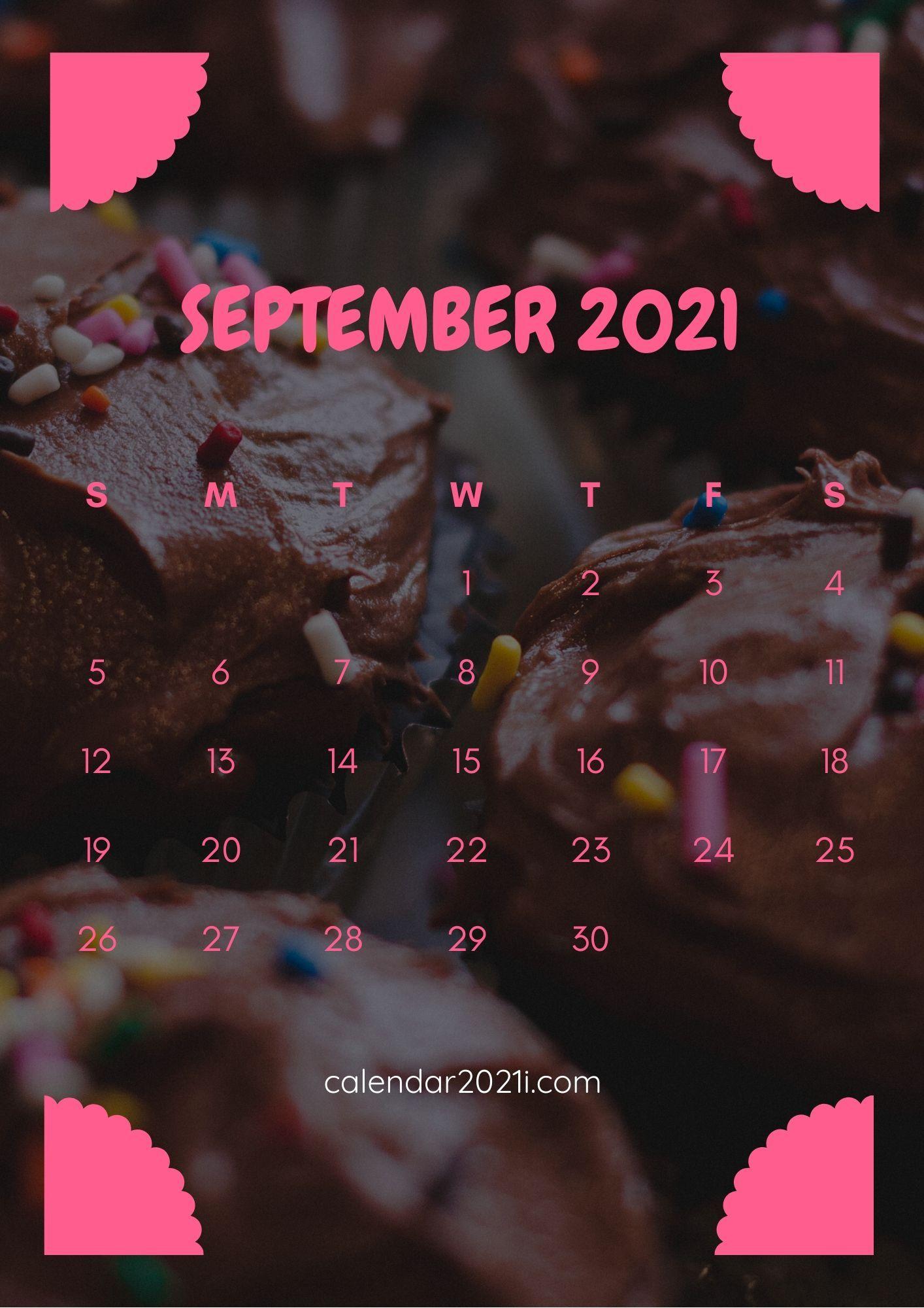 September Calendar 2021 iPhone HD Wallpaper with beautiful colors 1414x2000