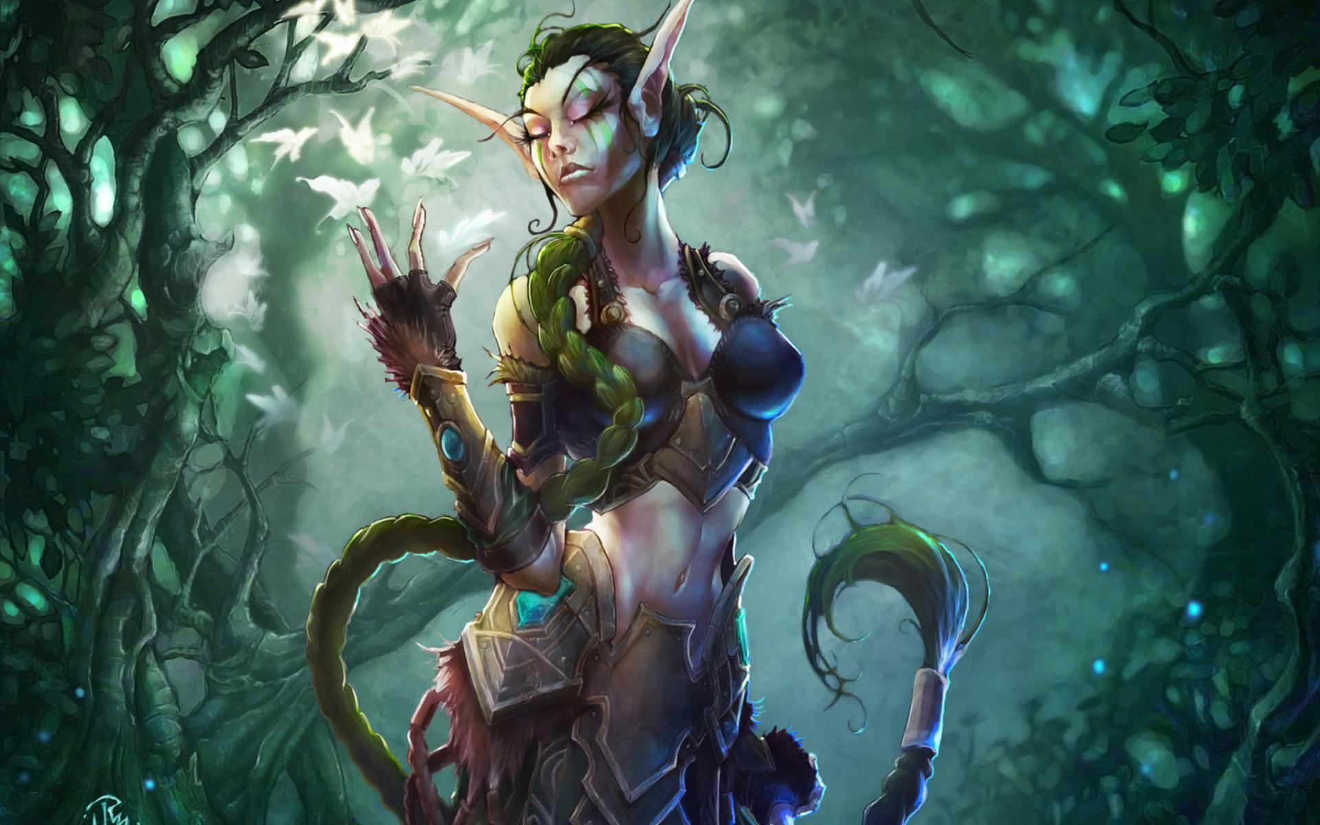 Jungle Wallpaper World Of Warcraft: Elven Forest Wallpaper