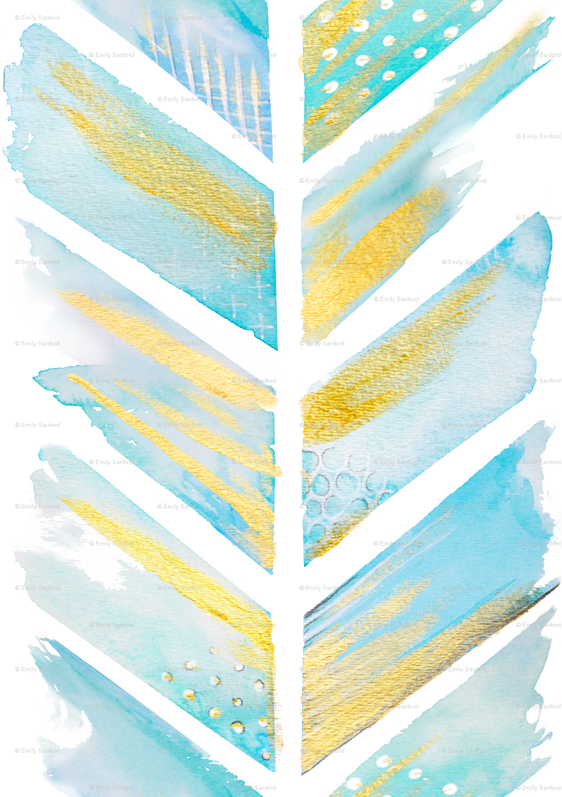 Watercolor Feather Chevron LARGE wallpaper   emilysanford 1106x1566