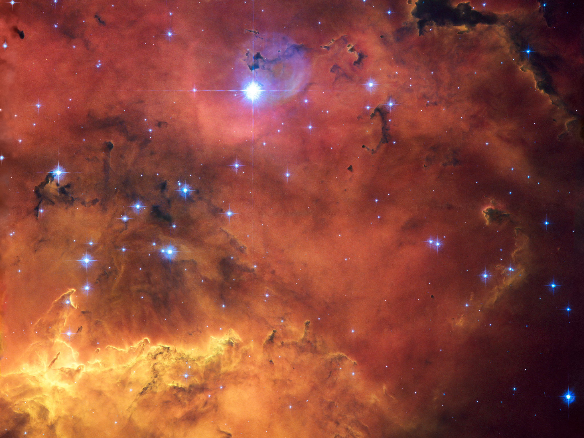 A cosmic concoction in NGC 2467 ESAHubble 2048x1536