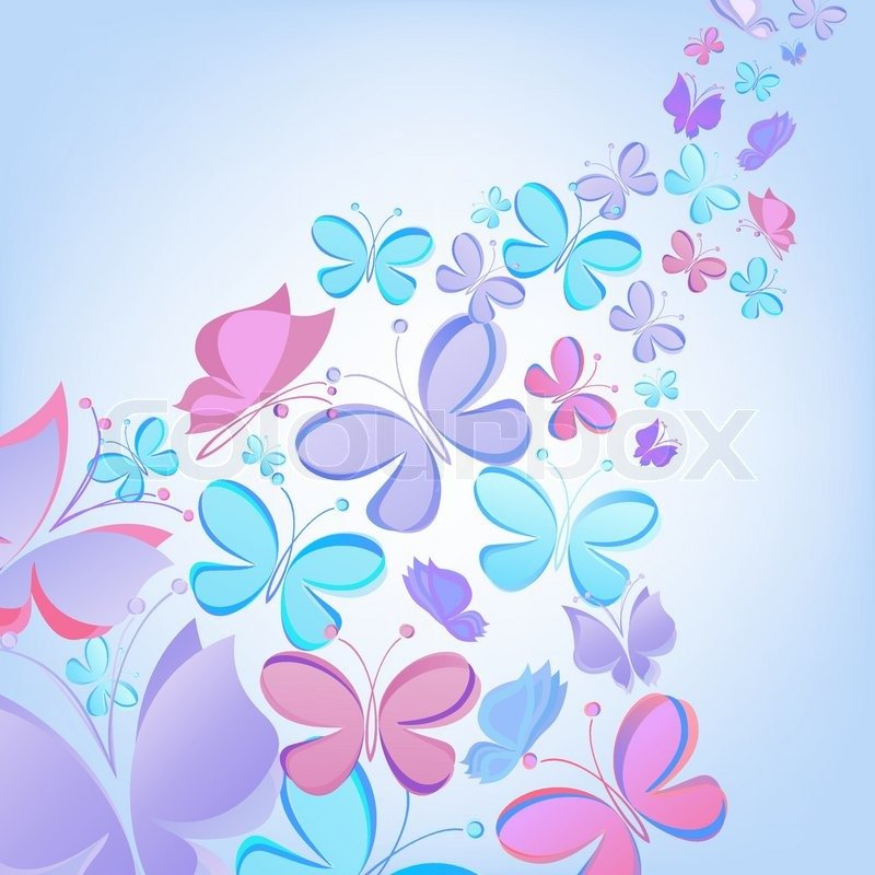 Vector butterfly background Stock Vektor Colourbox 800x800