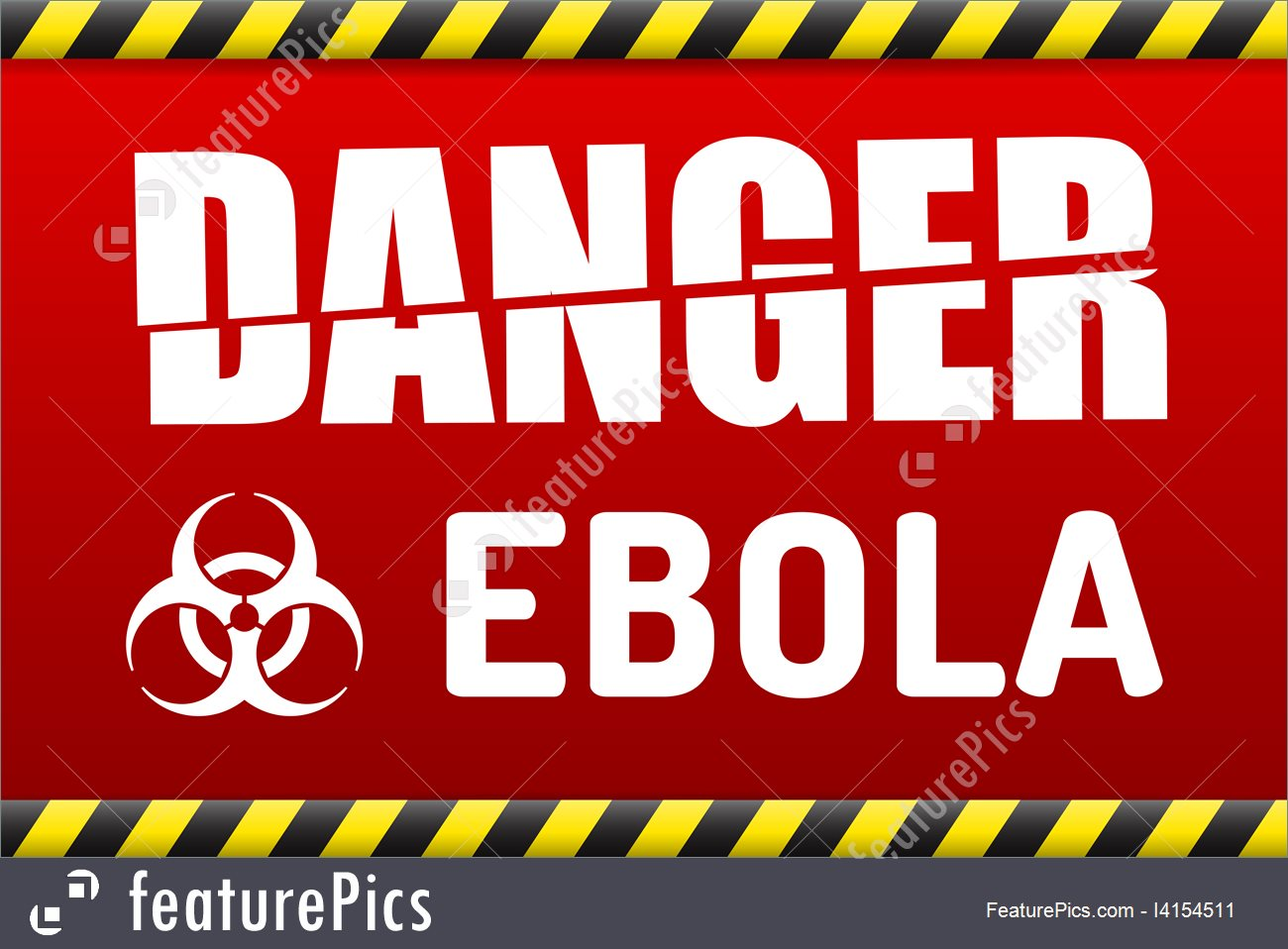 Illustration Of Ebola Virus Danger Sign With Reflect 1300x958
