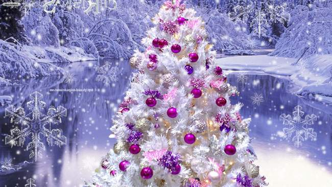 My Home Reference pink christmas tree wallpaper My Home Reference 650x366