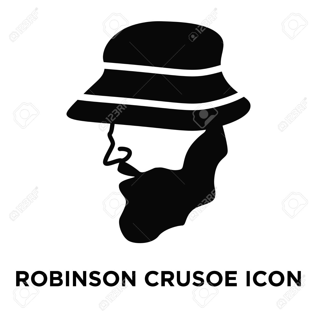 Robinson Crusoe Icon Vector Isolated On White Background Logo 1300x1300