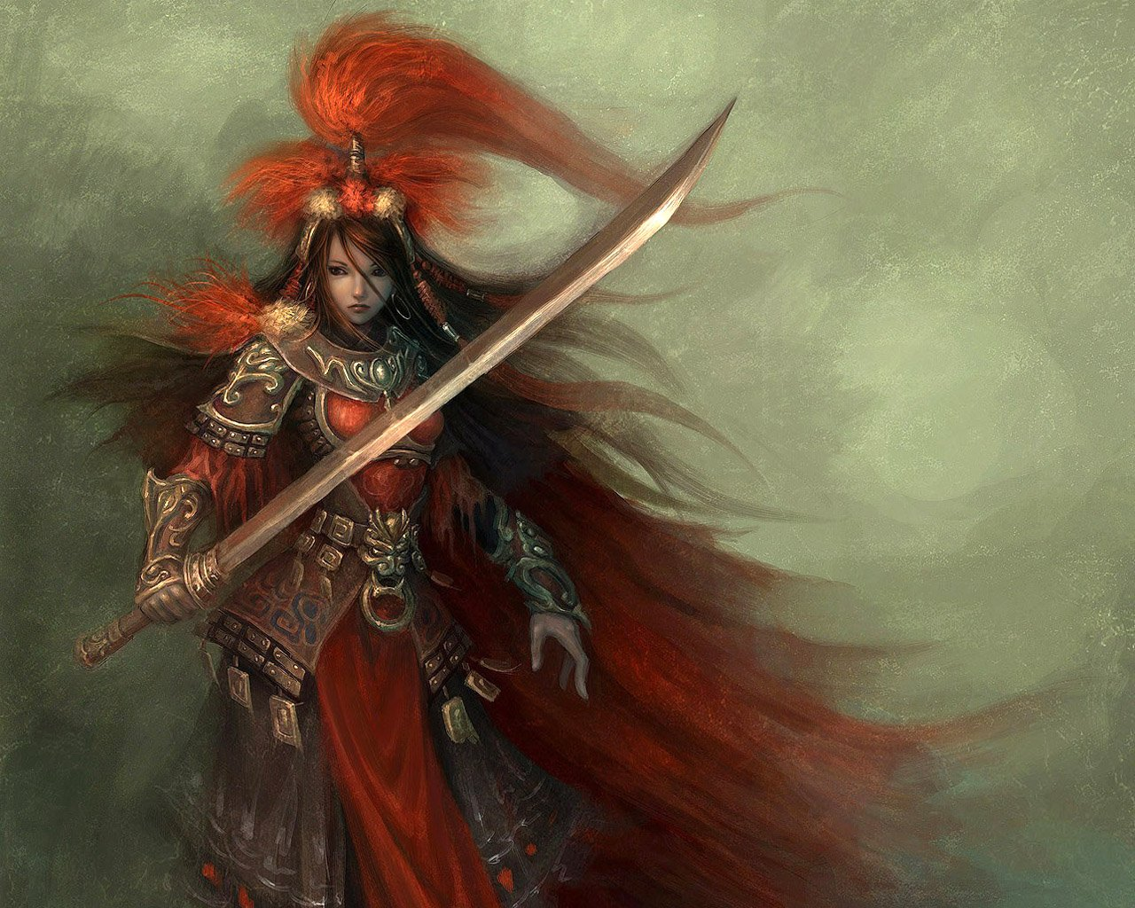 Samurai Female Warrior Wallpapers Metal Fantasy Heavy Metal 1280x1024