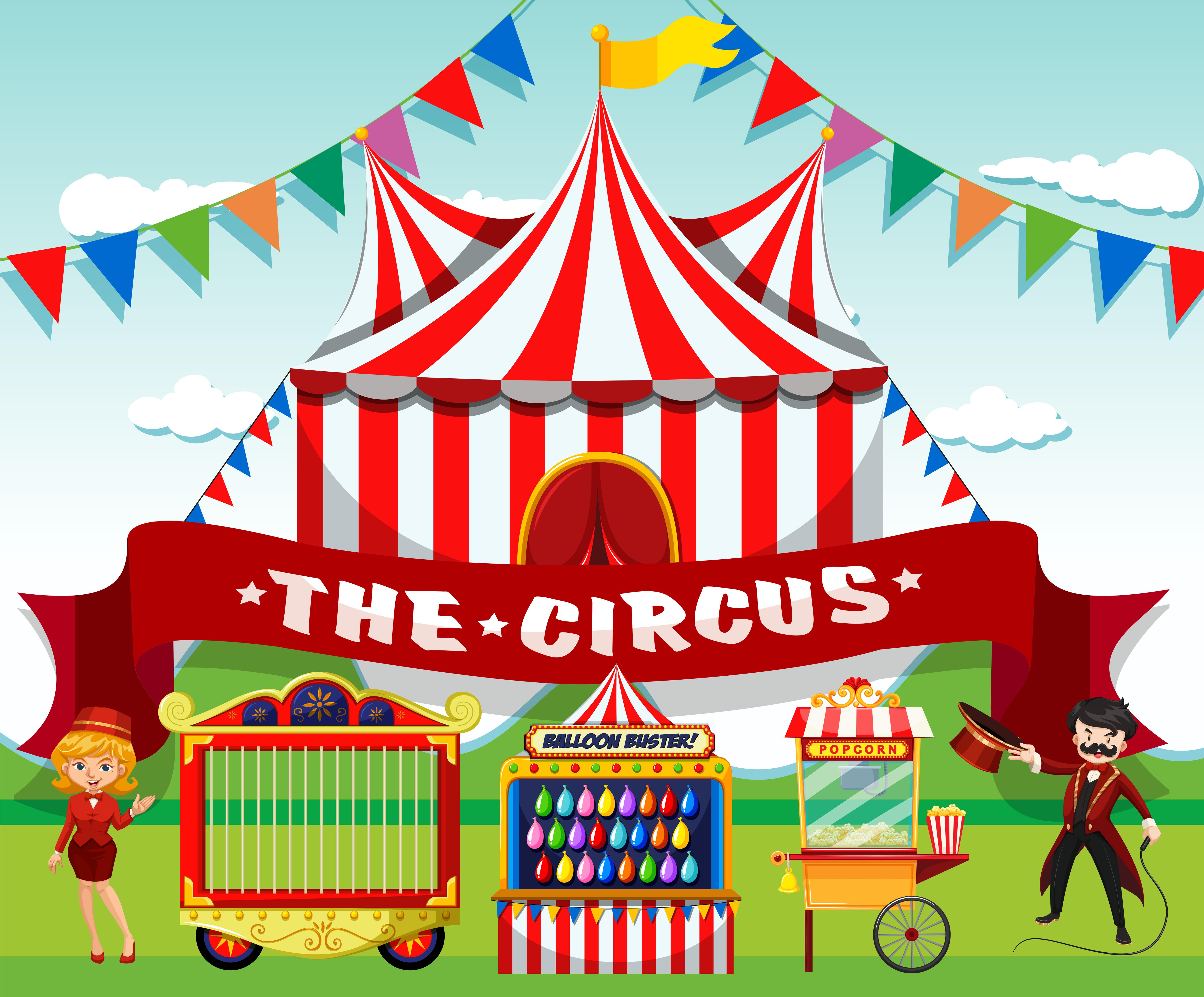 A cute circus background 605116   Download Vectors Clipart 5153x4269