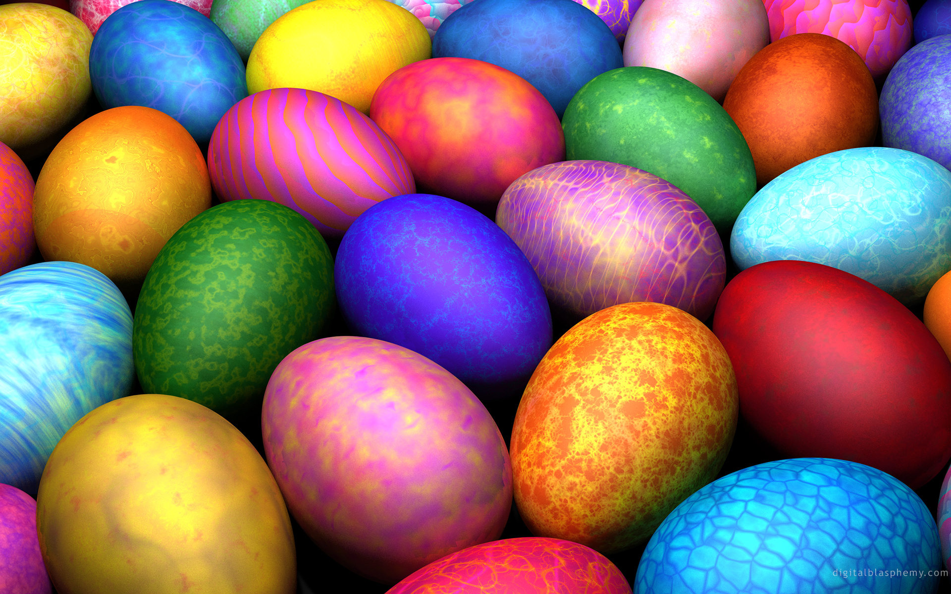 Download Easter Eggs HD Wallpaper 1920x1200