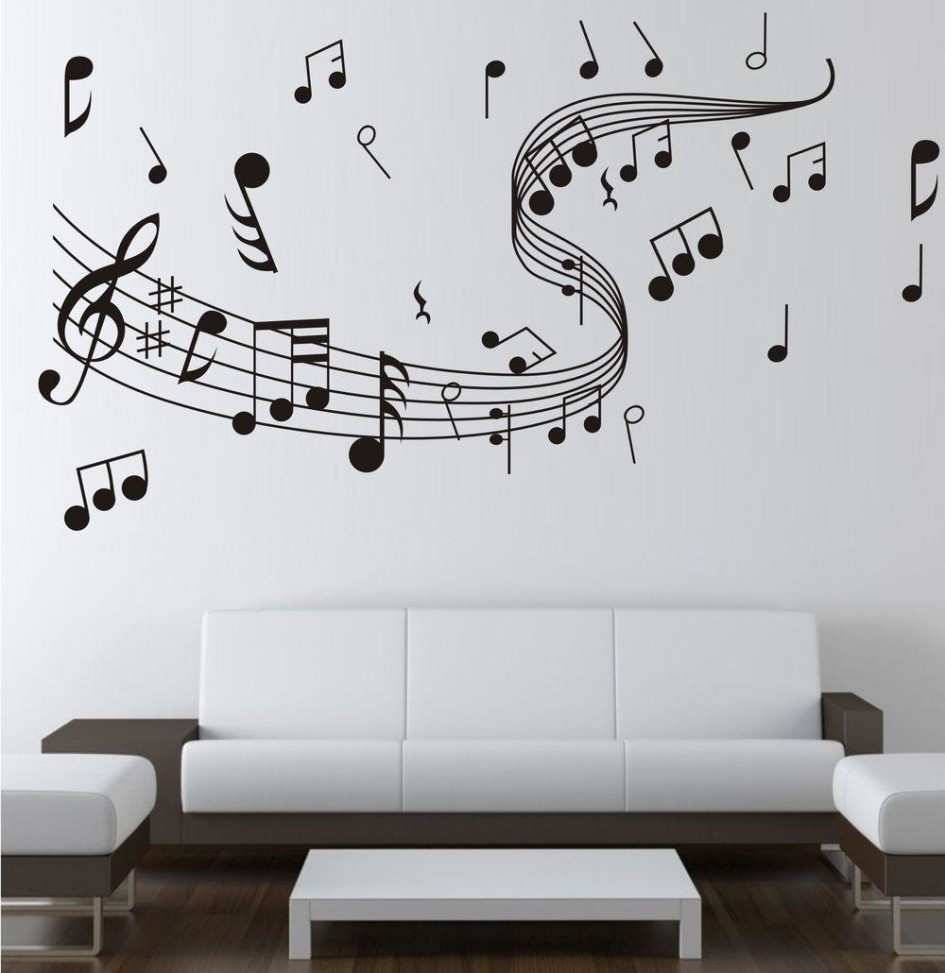 Music Wall Sticker 0855 Music Decal Wall Arts Wall Paper Sticker Home 945x973