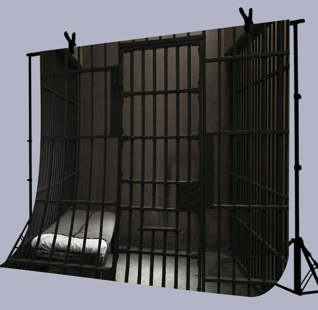 Amazoncom Prison Cell Bars Photography Backdrop 9x6FT Police 1024x1000