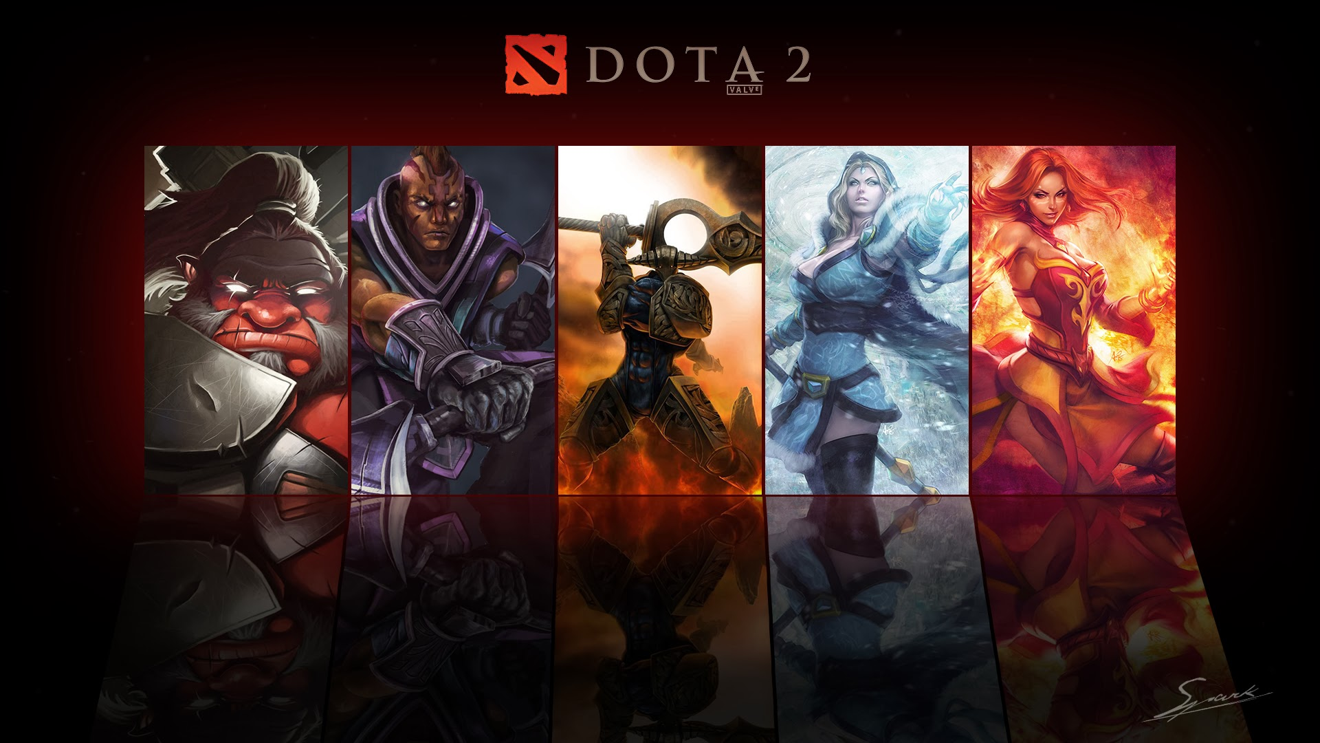 Axe Anti Mage Sven Maiden and Lina Wallpaper Dota 2 HD Wallpapers 1920x1080