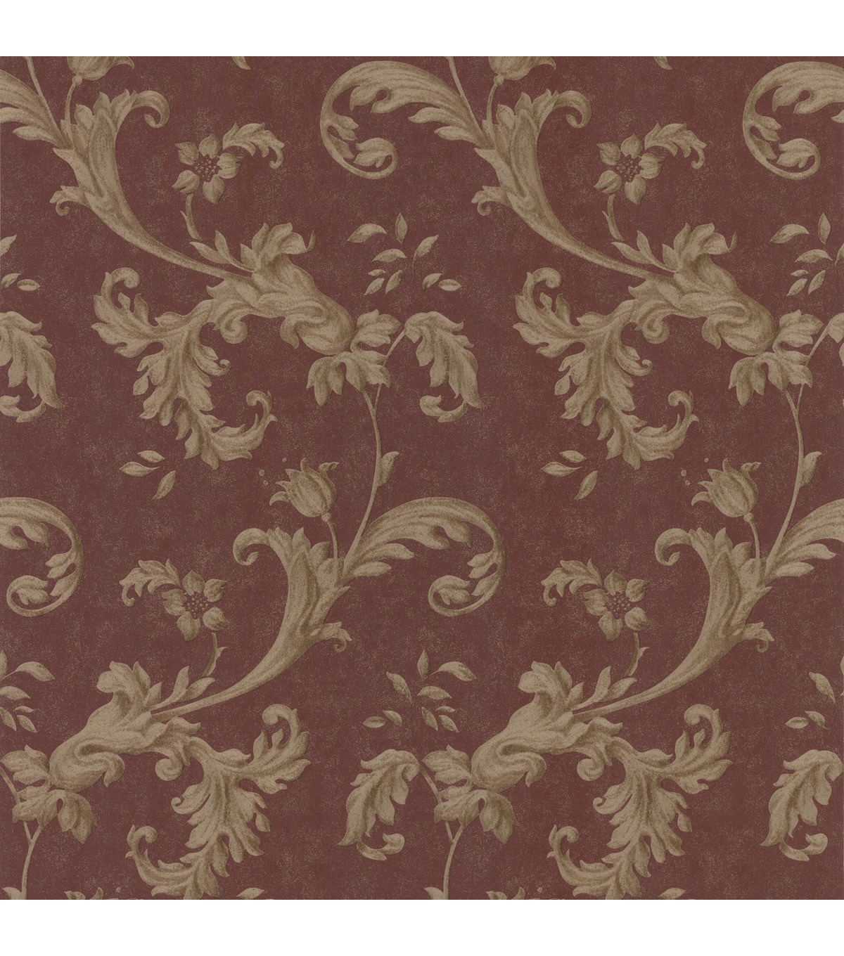Isleworth Burgundy Floral Scroll Wallpaper Jo Ann 1200x1360