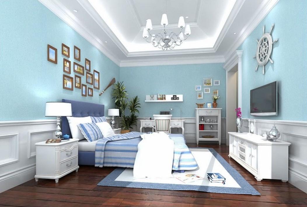 Free download Light blue wallpaper for minimalist bedroom ...