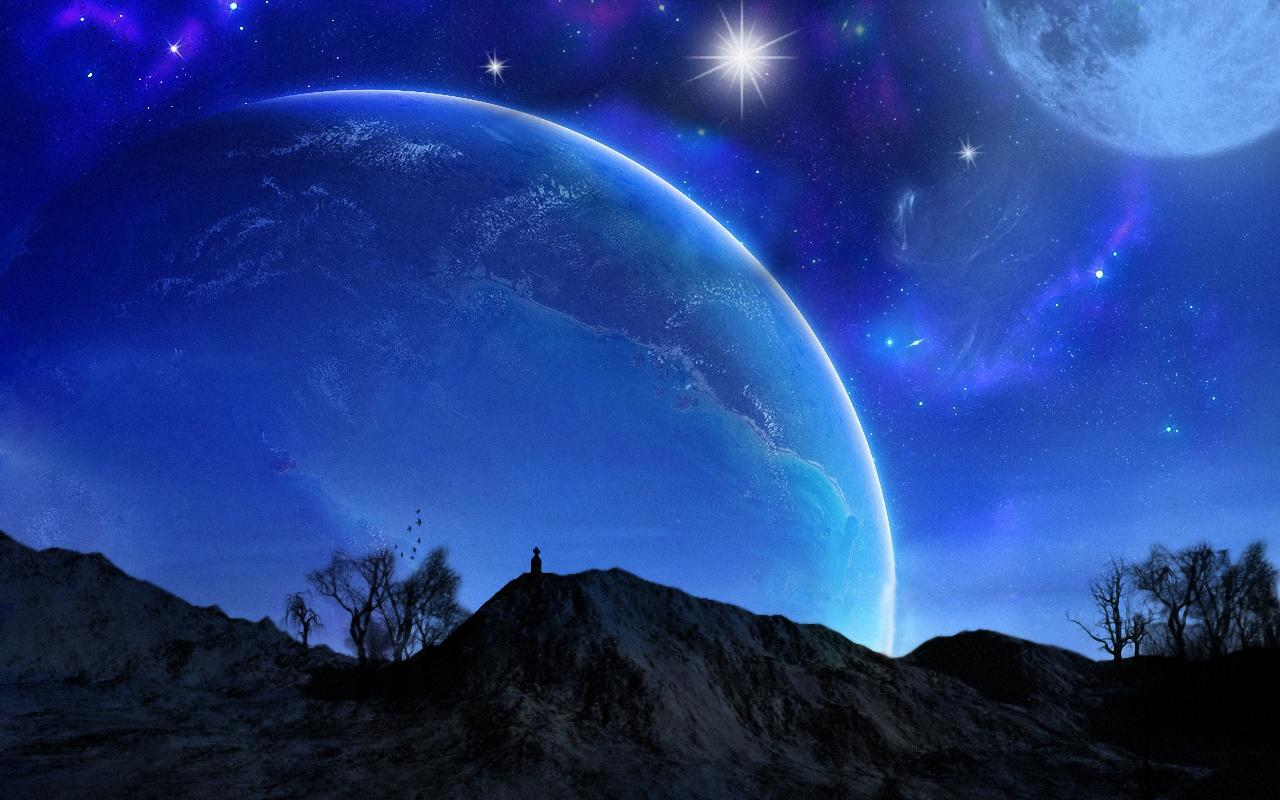graphics planets stars sky 1280x800