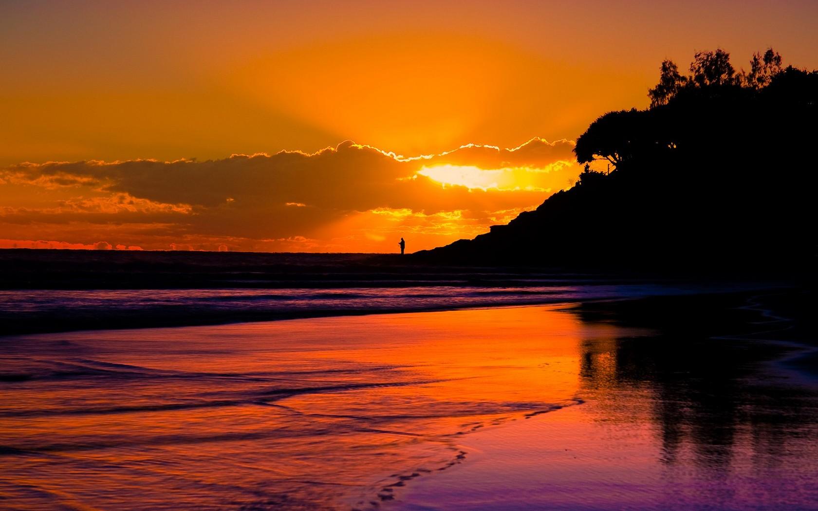 beach sunset landscape 5 HD Wallpaper | Landscape Wallpapers