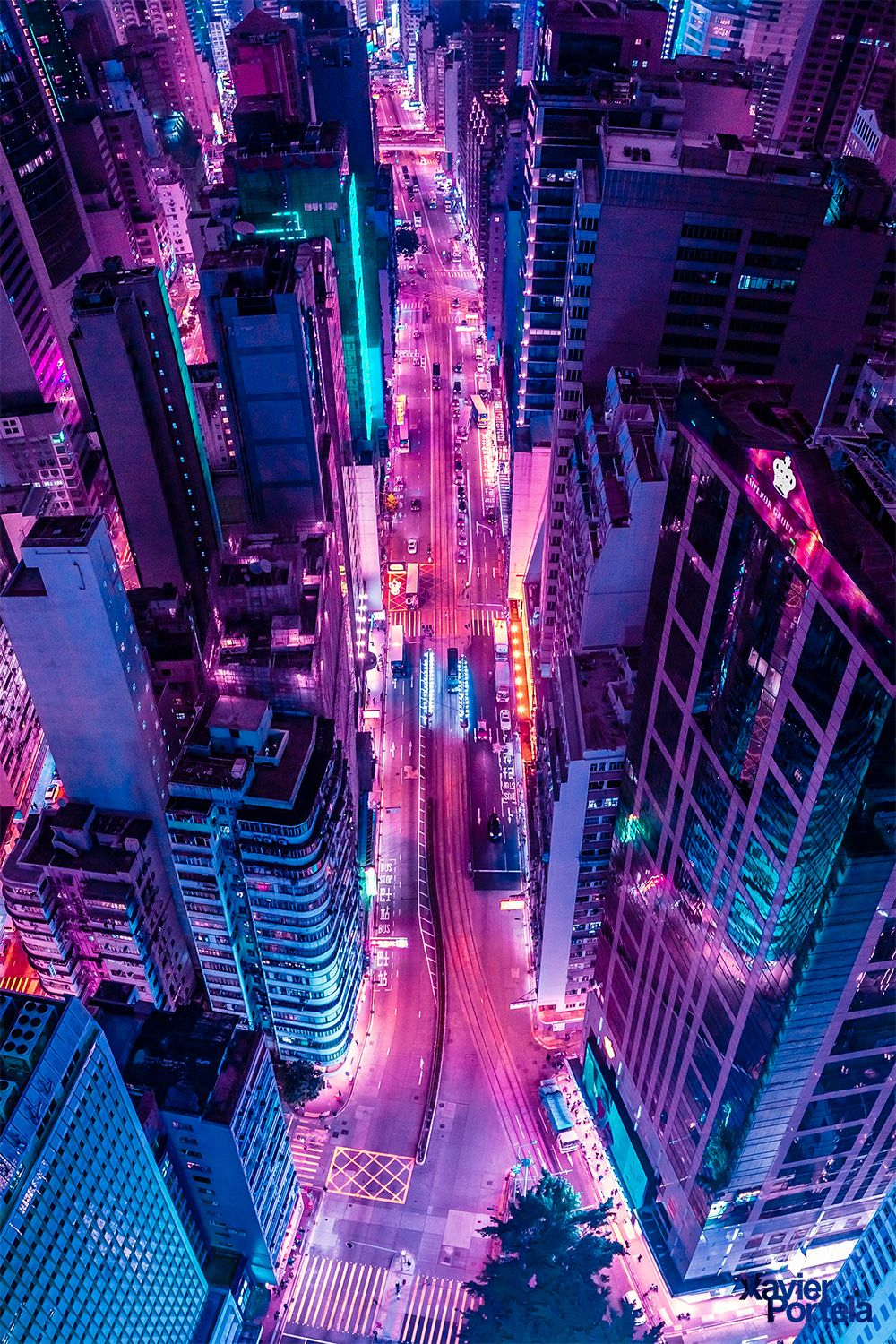 Xavier Portela Durex Neon wallpaper Neon aesthetic City 1000x1500