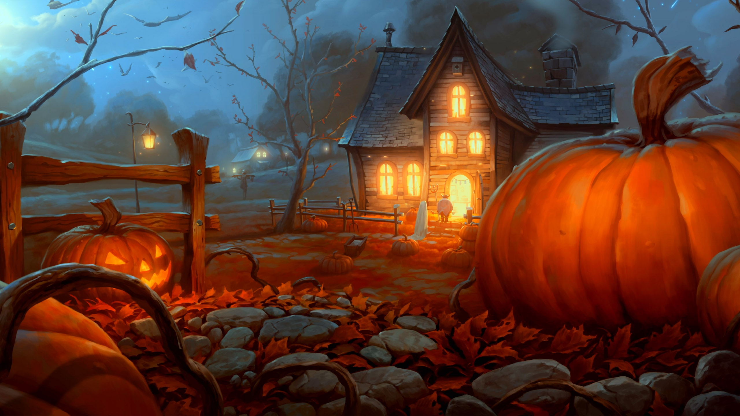 Pin Halloween 3d Desktop Wallpaper 2560x1440