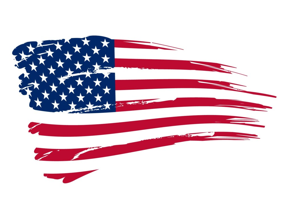 United States of America USA Flag 1024x768