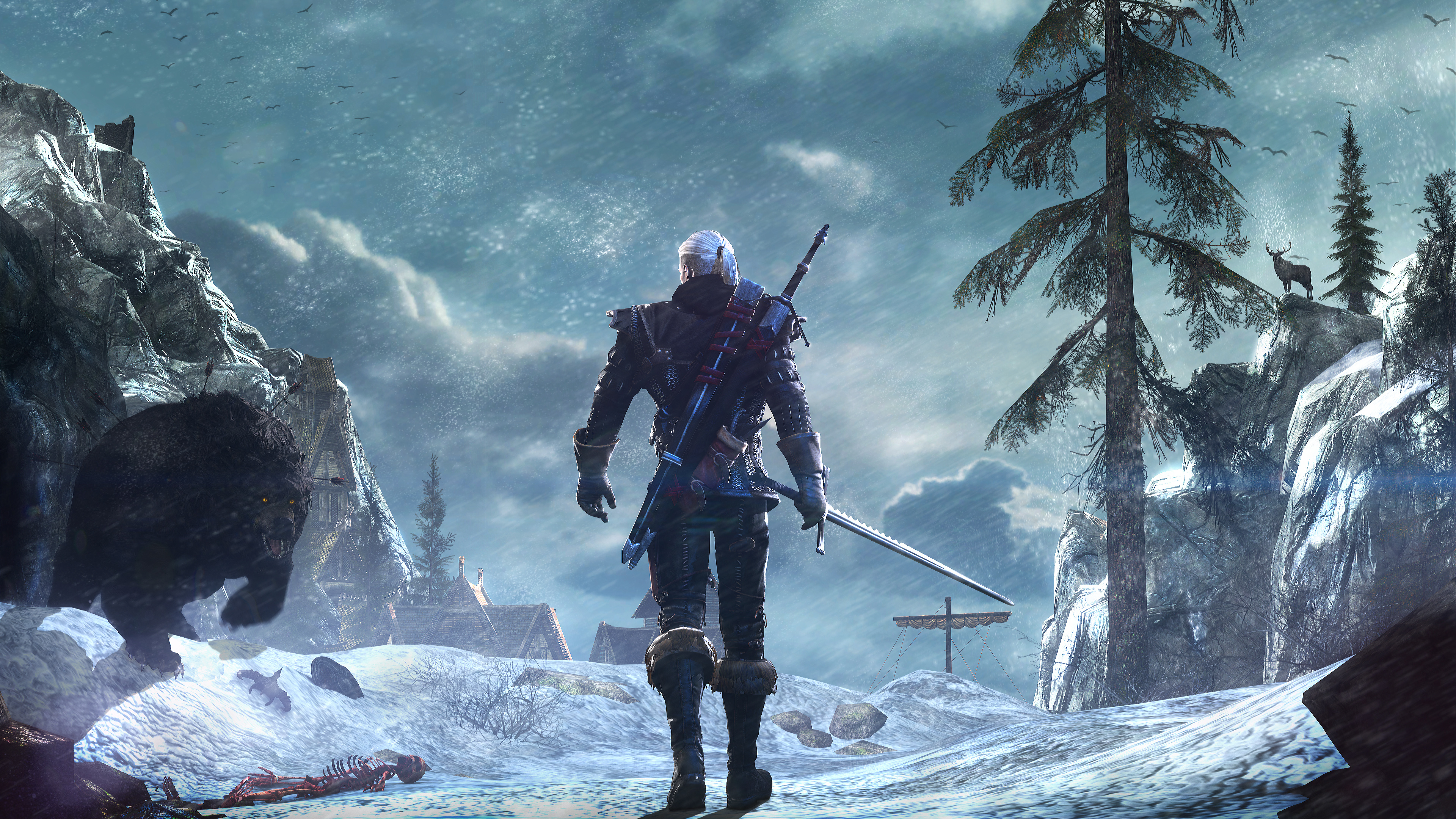 The Witcher 3 1080 X 2160 Wallpaper: Witcher 3 4K Wallpaper