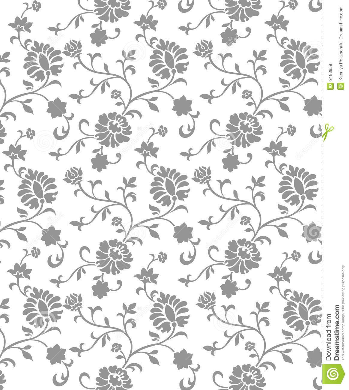 Free Download Gray Floral Backgrounds Grey Flower Floral