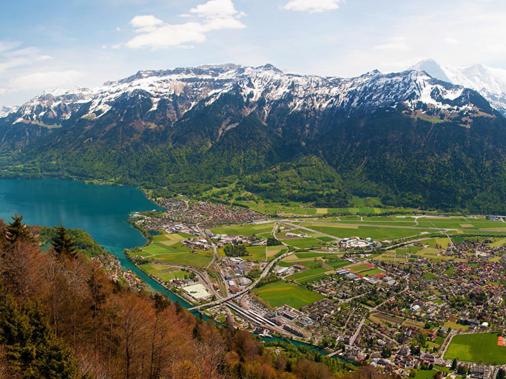 Interlaken   Switzerland   [3440x1440]   [OC] wallpapers 1024x768