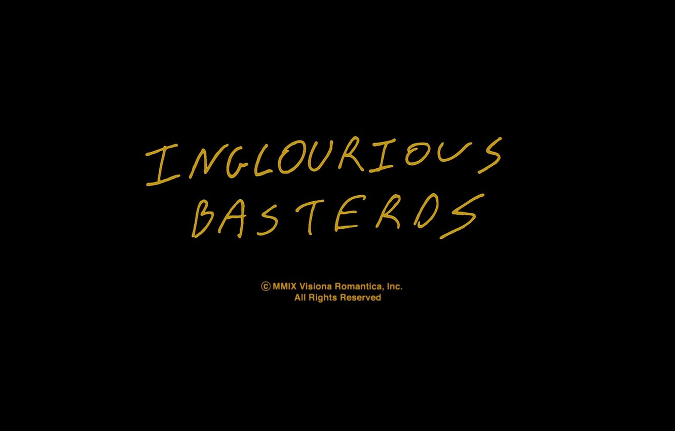 Wallpaper letters the inscription minimalism Inglourious 1332x850