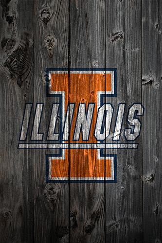 Illinois Fighting Illini Wood iPhone 4 Background Flickr   Photo 333x500