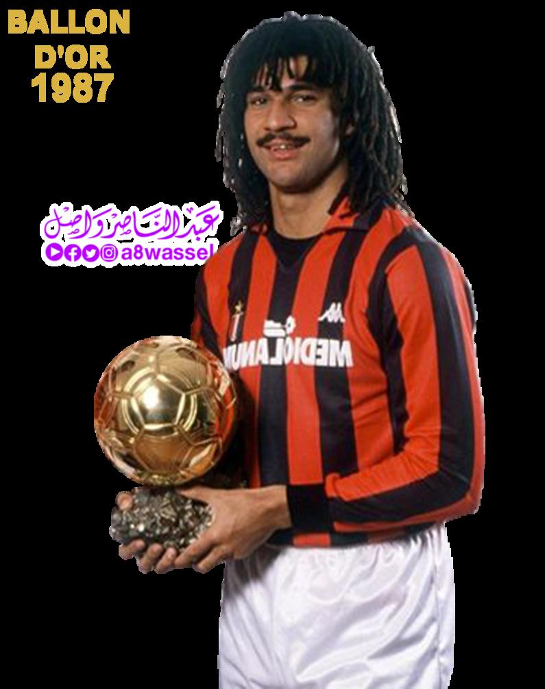 Ruud Gullit winner Ballon dOr award 1987 by A8WASSEL on 795x1006