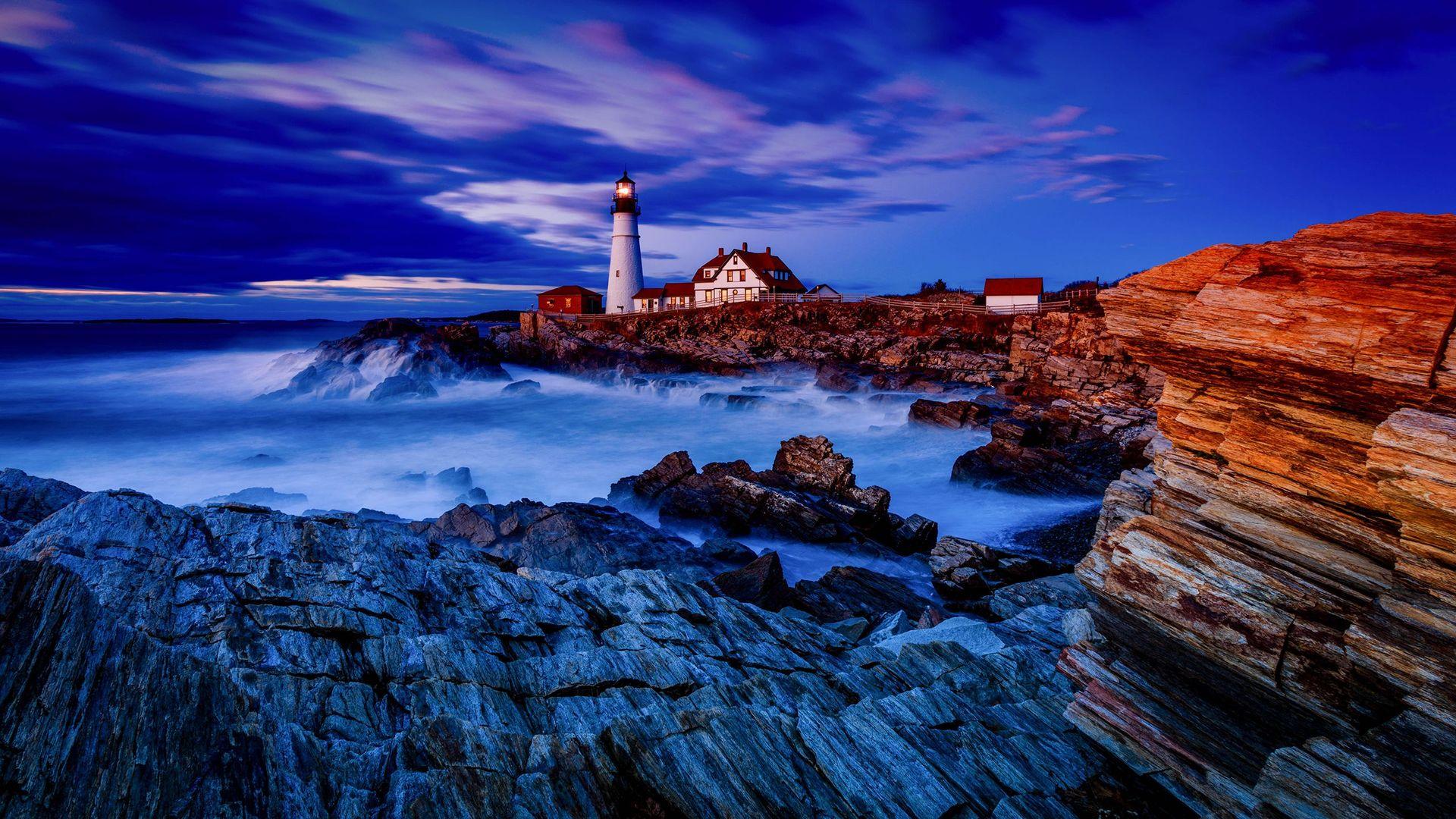Beautiful lighthouse view wallpaper 18801 1920x1080